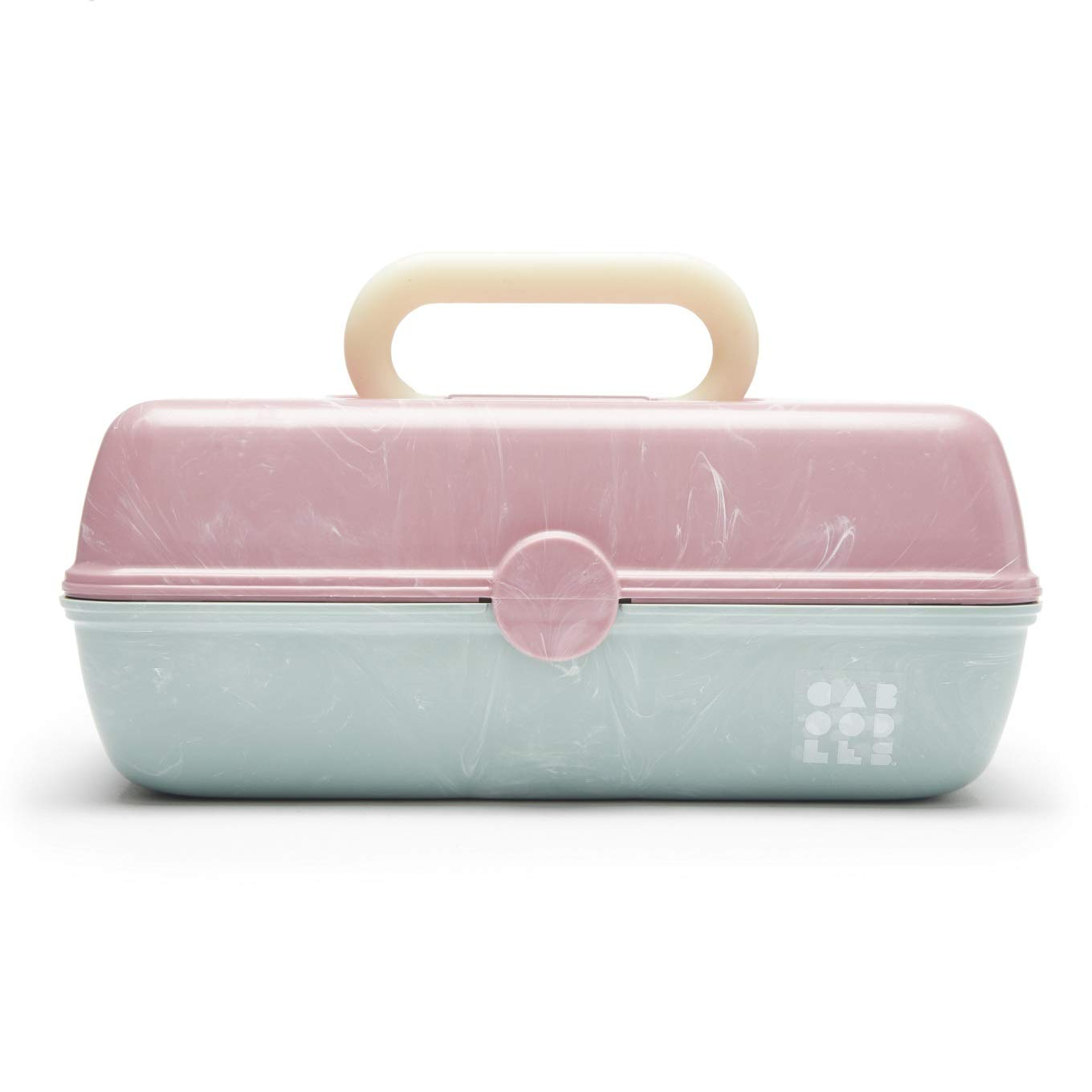 Caboodles On-The-Go Girl Retro Case1 , Pale Pink Lid and Sage Base
