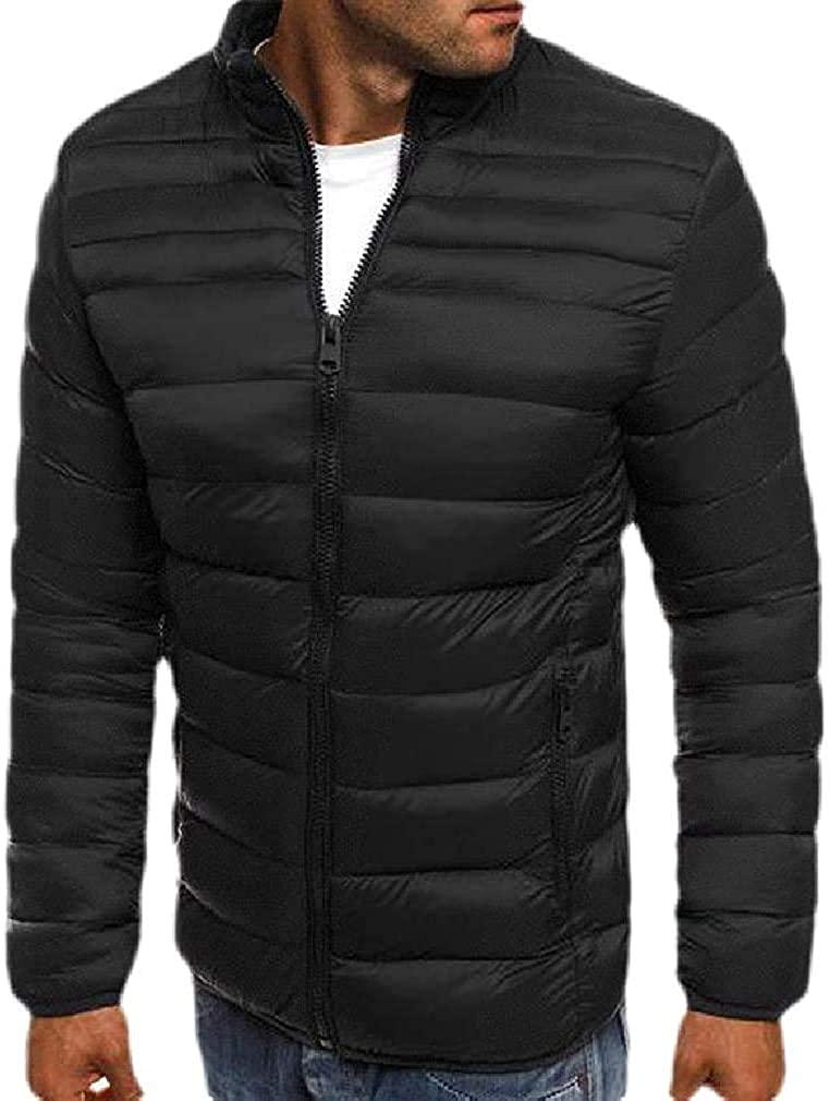 Aysselt Mens Lightweight Puffer Zipper Winter Jacket Parka Coat with Pocket
