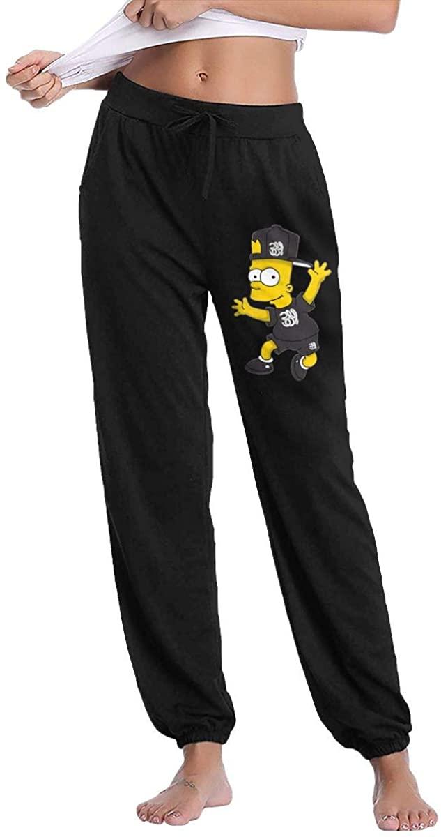 Bart Simpson Fashionable Ladies Fitness Sportswear Trousers Sweatpants