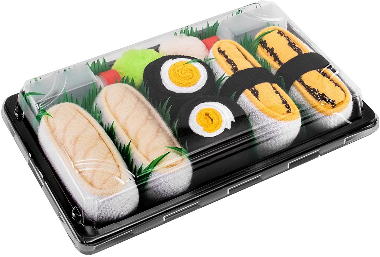 Rainbow Socks - Men's Women's - Sushi Socks Box Tamago Butterfish Oshinko - 3 Pairs