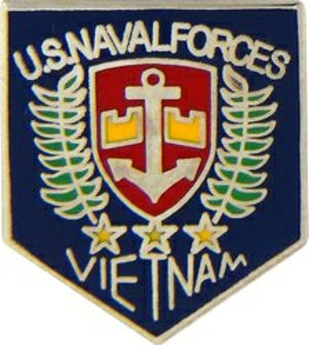 US Navy Vietnam Naval Forces Lapel Pin or Hat Pin (metal, 7/8