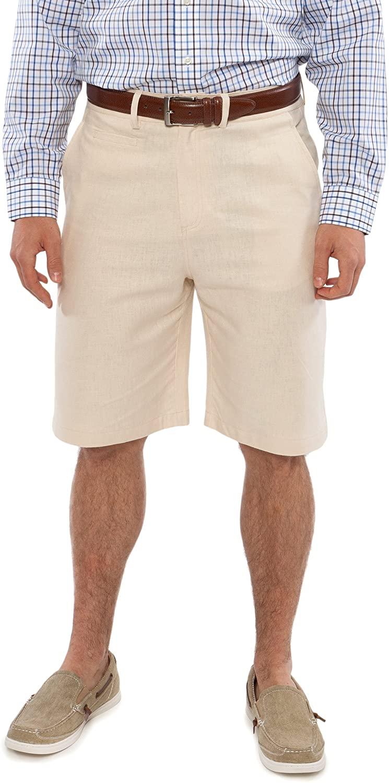 Texere Men's Linen Flat Front Shorts - Comfortable Gift Ideas ML1401