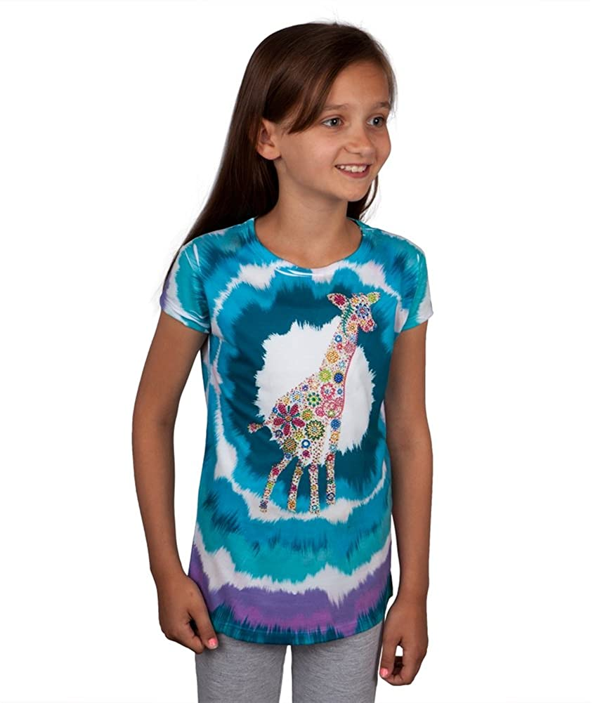 Floral Giraffe Youth T-Shirt - X-Large(18)