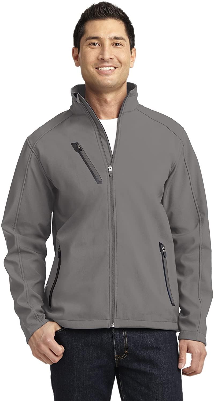 Port Authority Welded Soft Shell Jacket. J324, Deep Smoke, 2XL
