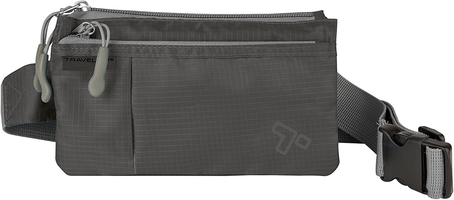 Travelon 6 Pocket Waist Pack, Charcoal, One Size