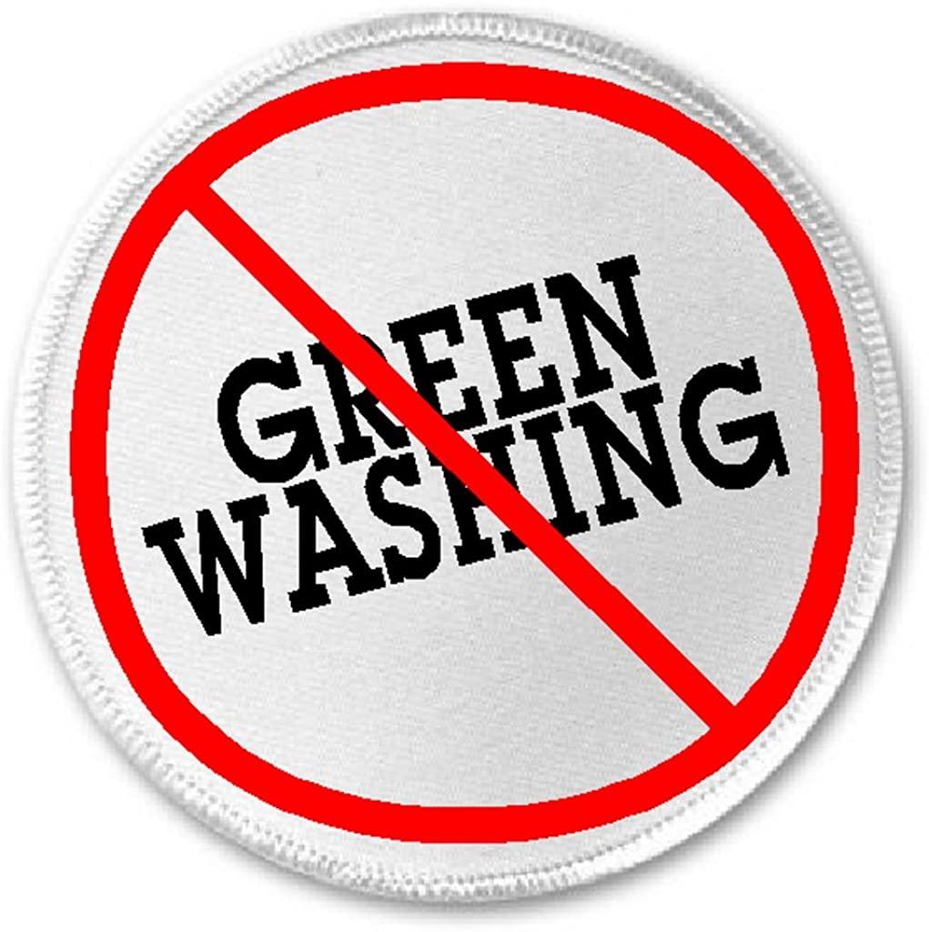 Anti Green Washing - 3 Sew/Iron On Patch Environmentalist Greenwash