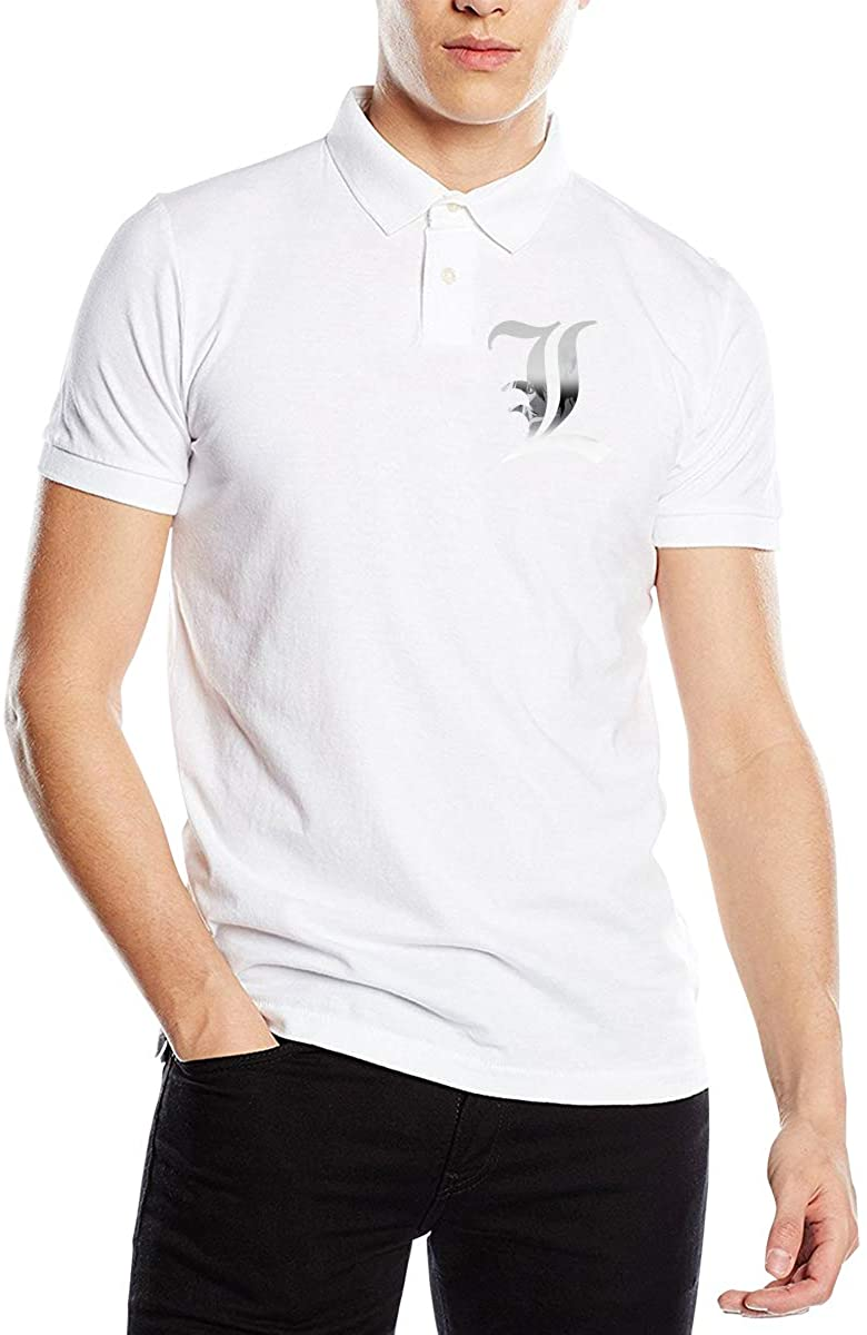 Wesley S Lance Death Note Men's Slim Fashion Polo Shirt Short Sleeve T-Shirt