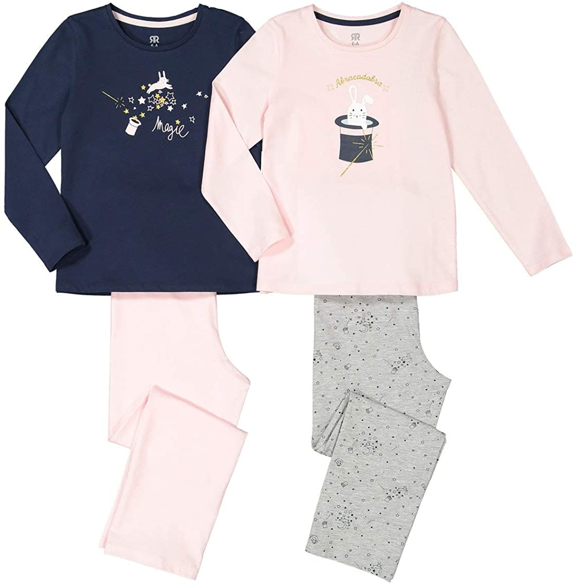 La Redoute Collection Pack of 2 Cotton Pyjamas, 3-12 Years