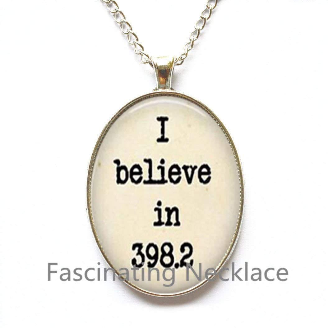398.2 Dewey Decimal System Image Pendant/Necklace Jewelry, Necklace Jewelry, 398.2 Photo Jewelry, Glass Pendant, Gift,AQ180