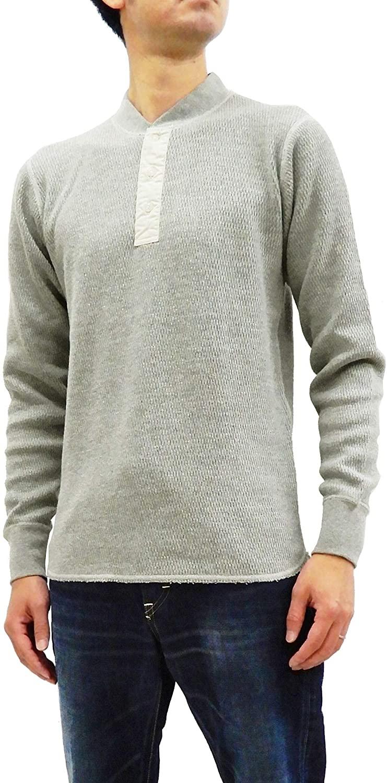 Buzz rickson's Thermal Henley T-Shirt Men's Plain Waffle Long Sleeve Tee SC68351