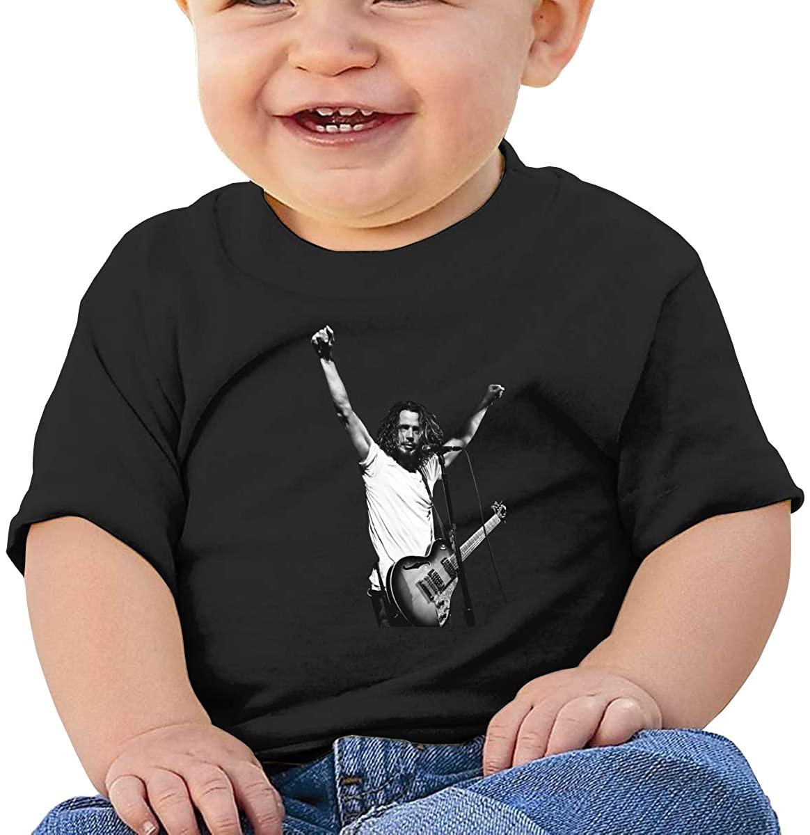 Boy's T-Shirt,Chris Cornell Short Sleeve Round Neck T-Shirt, 100% Organic Cotton.