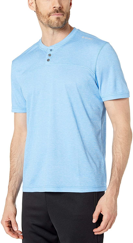 Hi-Tec Men's Sequoia Short Sleeve Tech Henley T-Shirt Azure