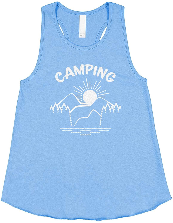 Threadrock Big Girls' Camping Racerback Tank Top
