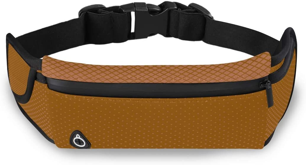 Orange Halftone Square Diagonal Mens Travel Fanny Pack Bag Woman Fashion Best Waist Bag With Adjustable Strap For Workout Traveling Running
