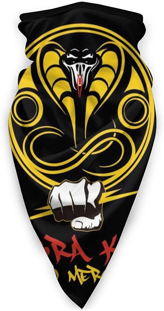 Cobra Kai Logo No Mercy Face Mask Bandanas For Dust, Outdoors, Festivals, Sports