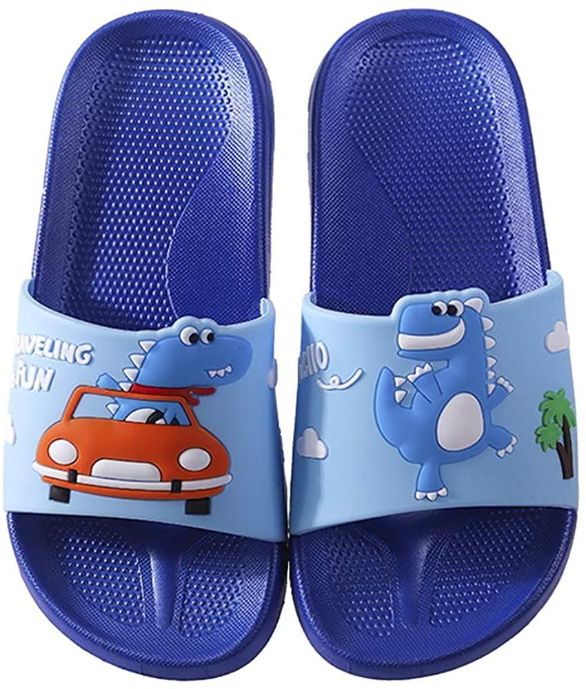 Girls Boys Slide Sandals, Kids Dinosaur Water Shoes Shower Pool Slipper Home Slippers