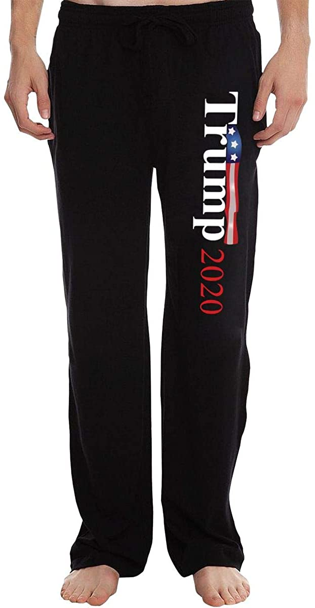 FriendsComing Trump 2020 Sweatpants Men's Sweatpants Basic Pants Suitable for Work, Wandering, Travel, Home.
