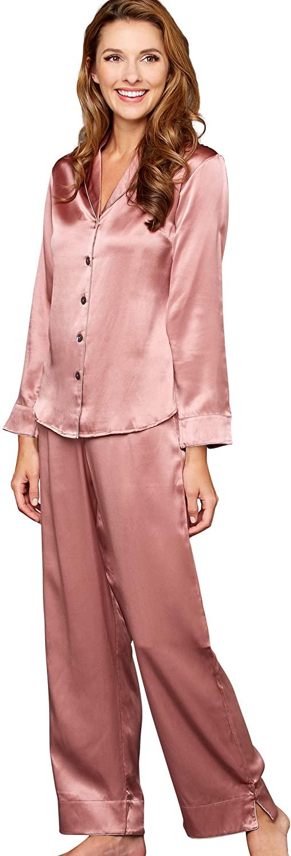 Julianna Rae Women's 100% Mulberry Silk Pajama Set, Elegant Fit PJs, Natalya Collection, Sleepwear, Lingerie