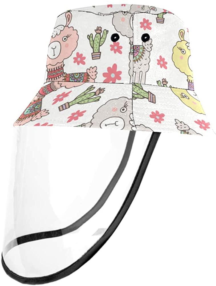 Cute Baby Alpaca Cap UV Sun Detachable Hat Bucket Caps for Women and Men
