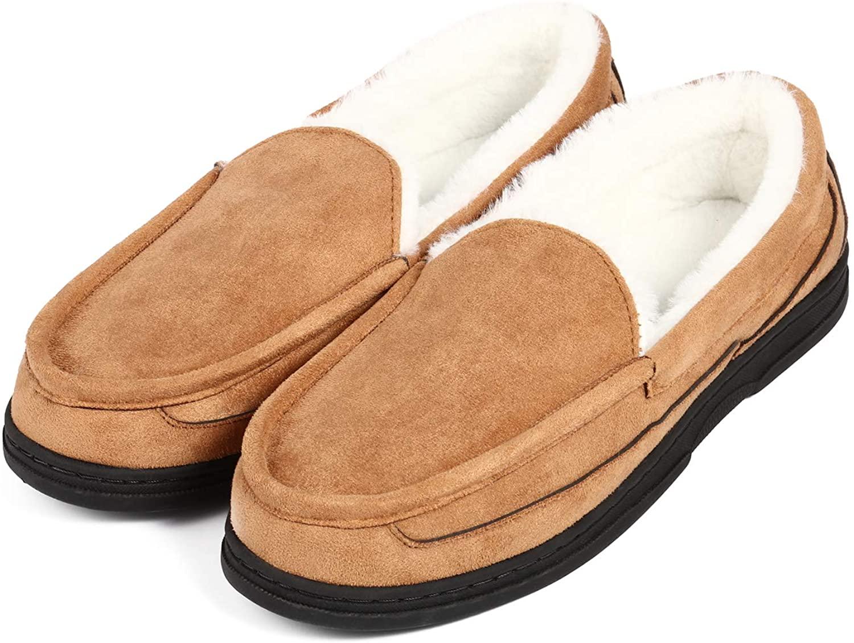 Men's Moccasin Slippers House Shoes Moccasin Comfort Warm Memory Foam Indoor Outdoor Bedroom Slippers