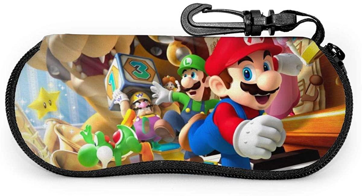 Sunglasses Mario Eyeglass Case Guard Set Portable Travel Zipper Soft Neoprene Glasses Bag Case