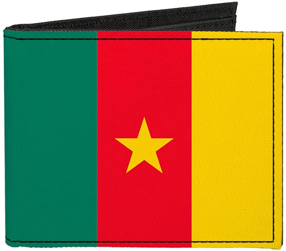 Buckle-Down Canvas Bifold Wallet - Cameroon