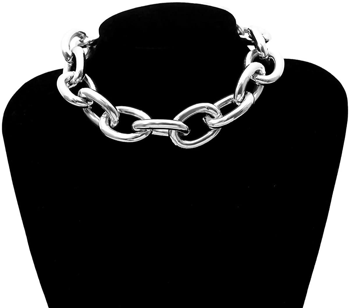 OnlyGoodDeal Link Chain Retro Exaggerated Punk Metal Item Necklace Female Simple Chain Geometric Personality Necklace Shackles New