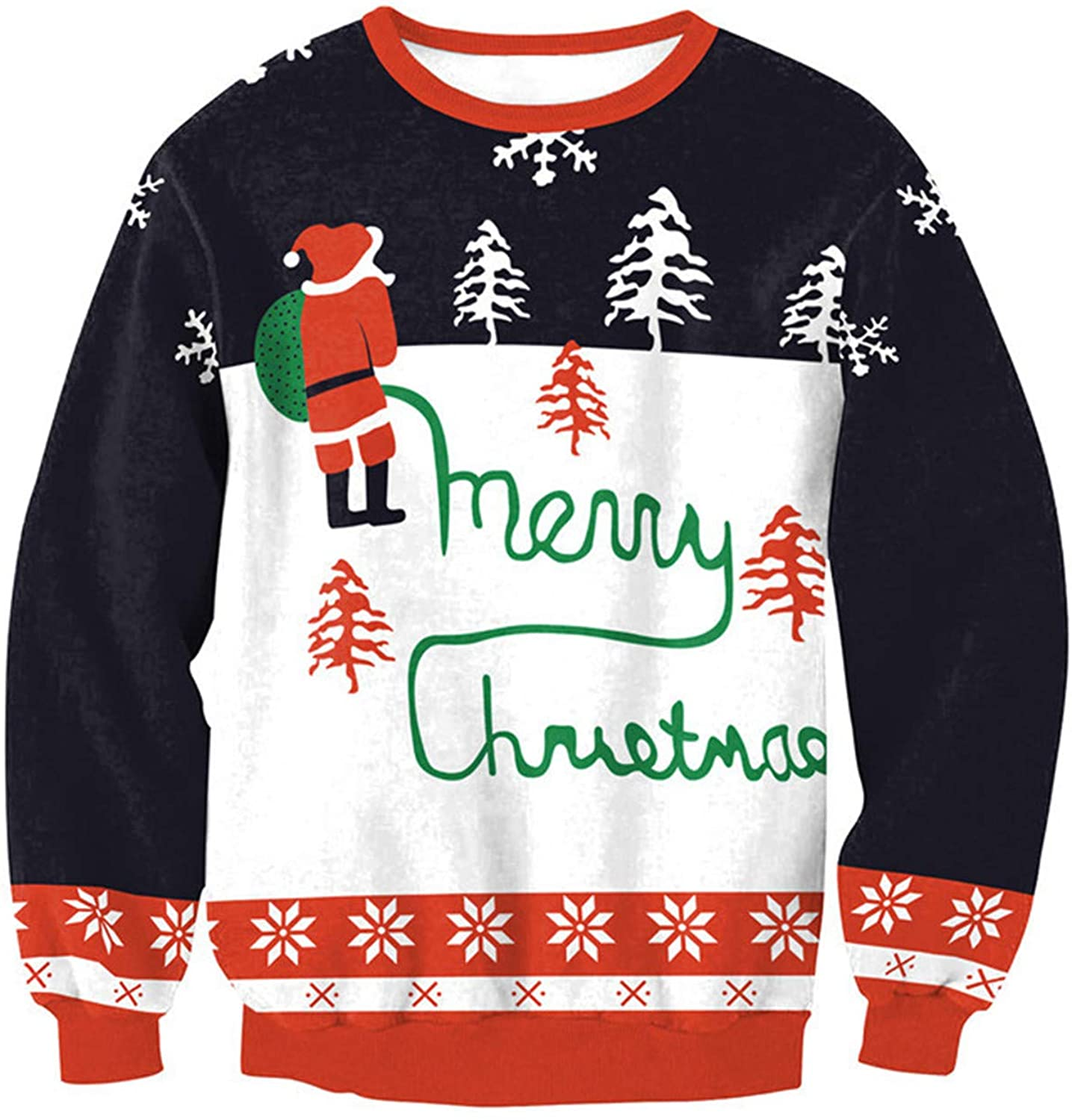 Soluo Ugly Christmas Sweater Company Men's Assorted Light-up Xmas Crew Neck Sweaters