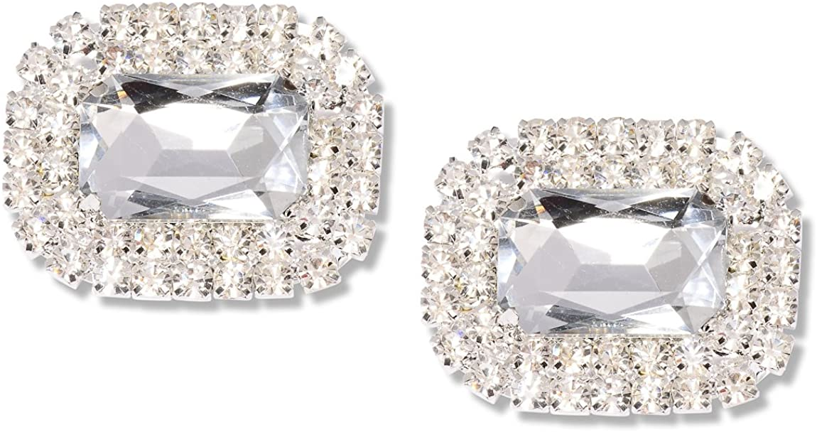 Absolutely Audrey Paris Shoe Clips Crystal
