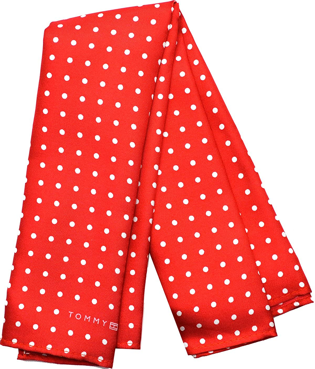 Tommy Hilfiger Men's Color Dot Pocket Square (Red)