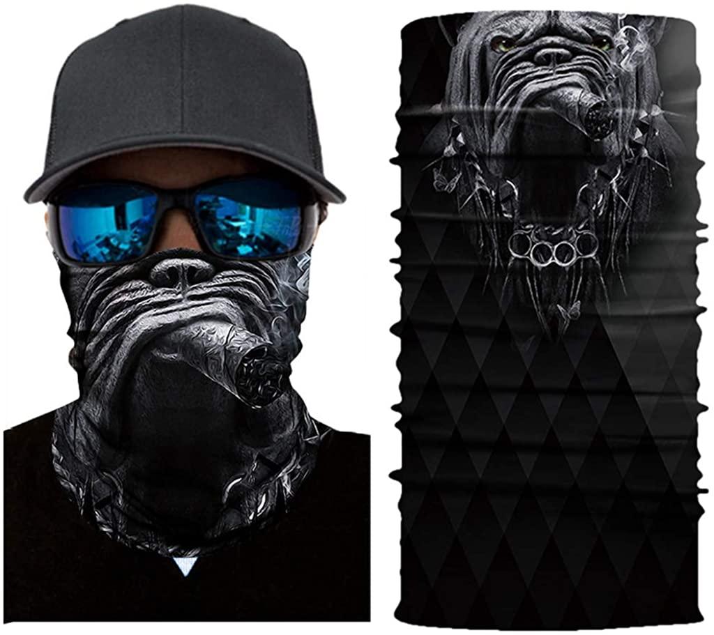 3D Face Tube Bandanas Neck Gaiter for Men Outdoors Cycling Motorcycle Sun protection