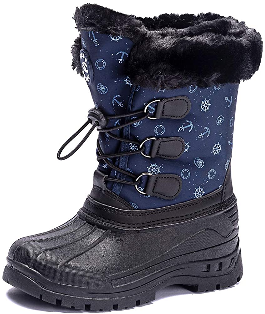 ODOUK Boys Girls Insulated Frosty Winter Snow Boots for Toddler Little Kids Big Kids