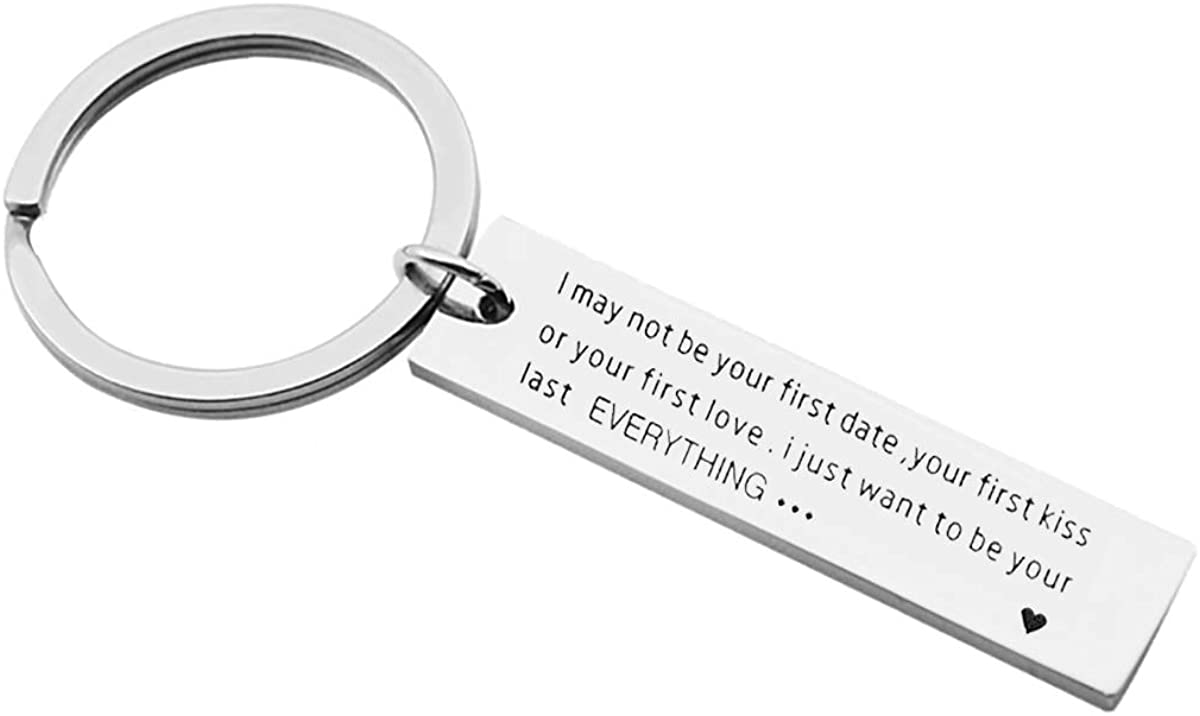 Drive Safe Keychain I Need You Here With Me Gifts for Husband Dad Boyfriend Gifts Valentines Day Fathers day BirthdayGift Lovers keychain Silver