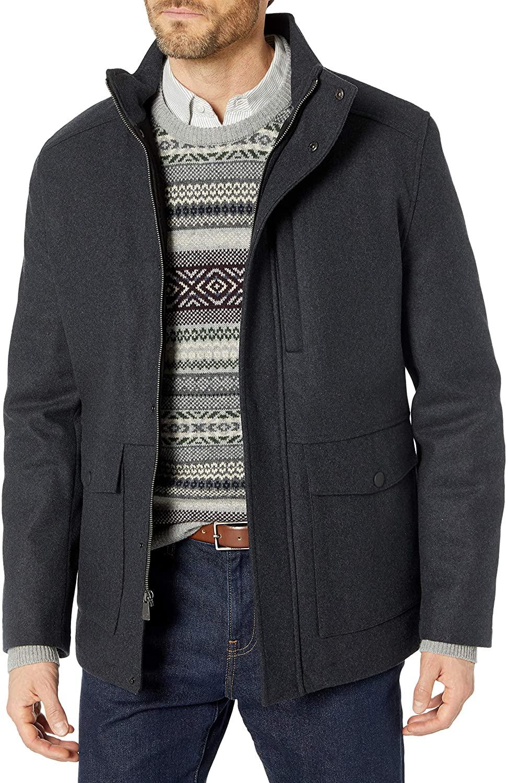 Hart Schaffner Marx Men's Wool Blend Coat, Gray, XX-Large