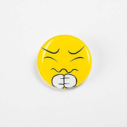 Harva Brooches - Harajuku Low Price Smiley face Cheap Fashion Broochs Lovely Wild Cartoon Acrylic Brooch for Jewelry Accessories Women Girl Gift - (Metal Color: 9)