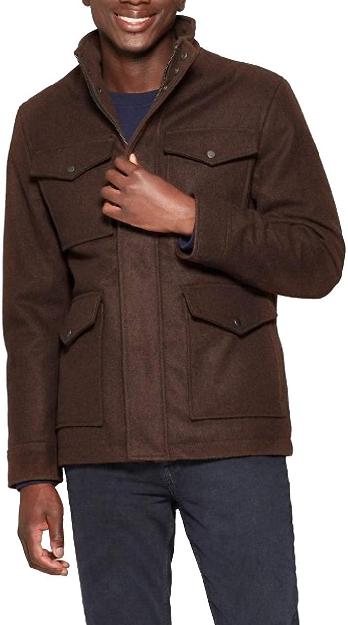 Goodfellow & Co Men's Wool Blend Military Jacket - Brown -