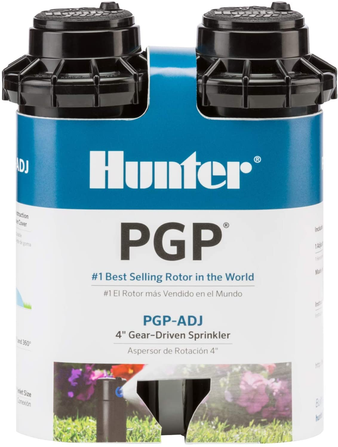 Hunter Industries RTLPGPADJB30X2 Hunter PGP-ADJ, 2-Pack Rotor, Black