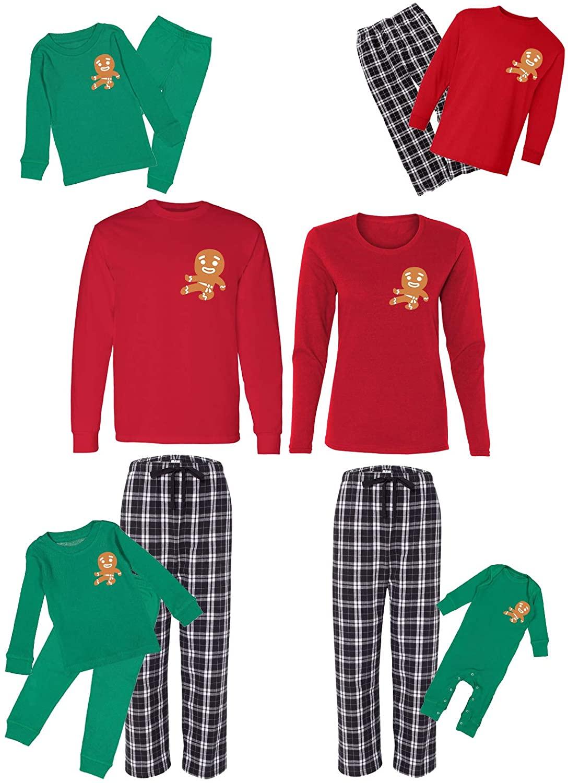 Awkward Styles Christmas Pajamas Set for Family Gingerbread Ninja Matching Sleepwear