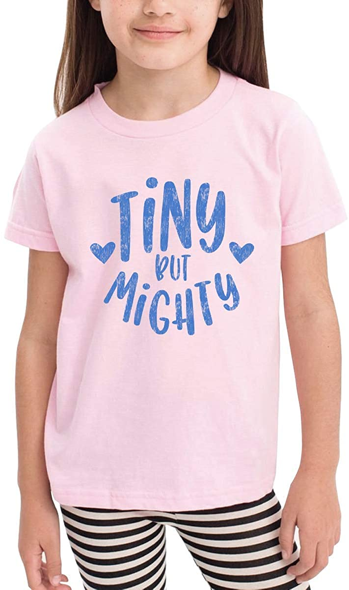 GongYe Tiny But Mighty Toddler Kids Girls Boys Adorable T-Shirt Cotton Short Sleeve Graphic Tee