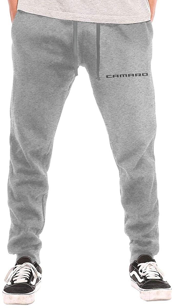 Men's Sweatpants Camaro -Logo Athletic Jogger Long Pants Gray