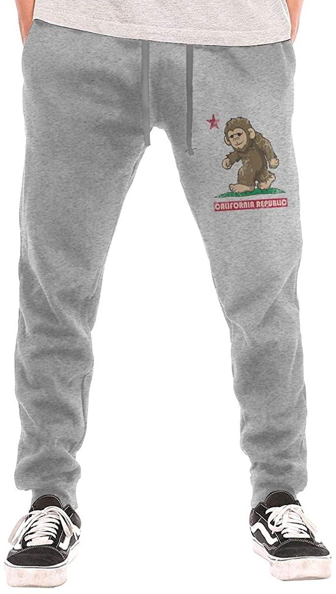 Hjgs Squatch California Republic Men's Casual Joggers Pants Trousers Sweatpants with Drawstring