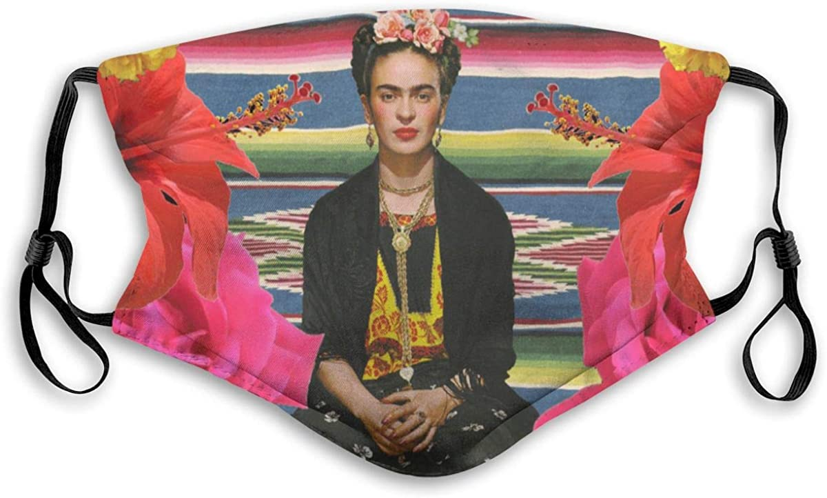 Gesdfwe Face Mask Reusable Frida Kahlo Face Mask With Filter