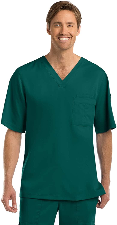 Grey's Anatomy 0103 Men's V-Neck Top Hunter Green 2XL