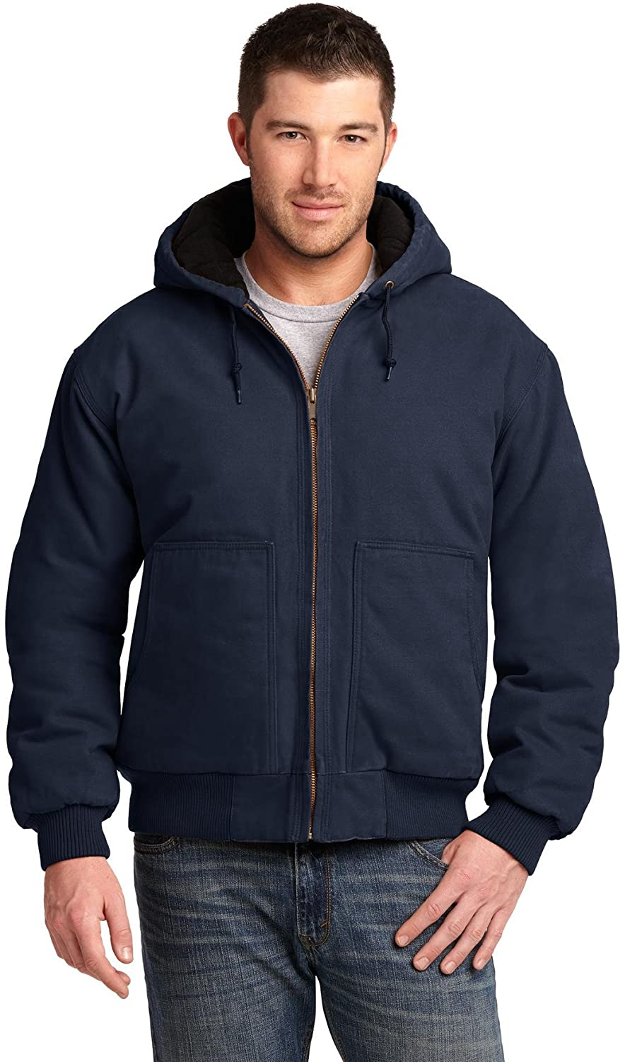 Cornerstone Men's Washed Duck Cloth Insulated Hooded Work Jacket
