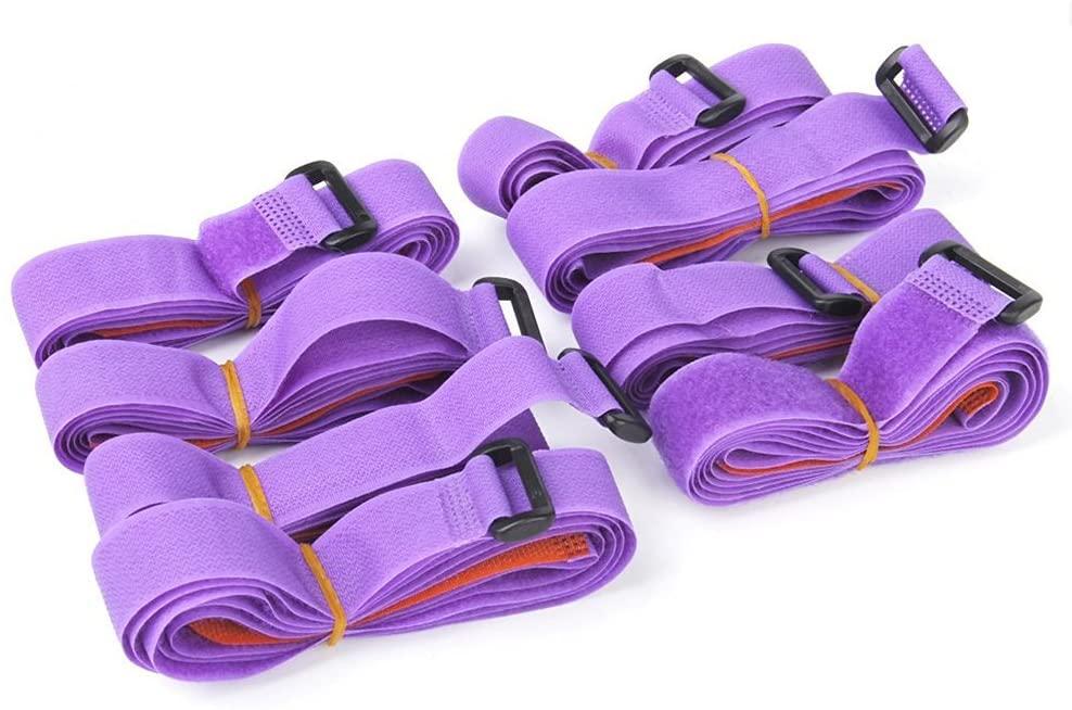 ULTNICE Luggage Strap Suitcase Packing Belt Self Adhesive Adjustable Purple Pack of 10