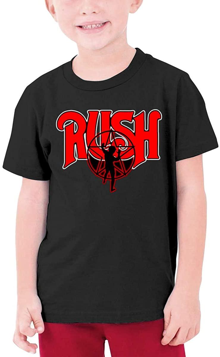 Rush Starman Boys and Girls Cotton Round Neck Short-Sleeved T-Shirt Kids Shirt