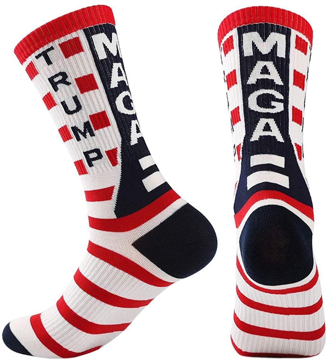 Trump Socks Unisex Novelty Crew Socks Make America Great Again 2020 Trump MAGA Socks