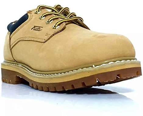 Fuda Men's Work Safety Boots Tan Leather Boots