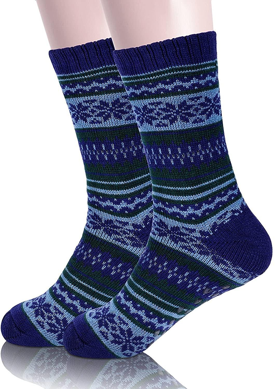 Mens Slipper Socks Fuzzy Fleece lined Soft Warm Fluffy Stockings Winter Christmas Socks