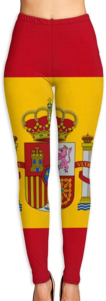 NOT Flag of Spain Women's 3D Digital Print High Wait Leggings Yoga Workout Pants